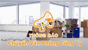 Thông báo chuyển văn phòng về P205 Tòa nhà Thanh Xuân Building -35 Lê Văn Thiêm - Thanh Xuân - Hà Nội