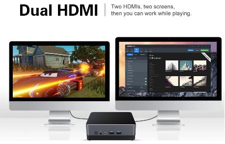 Mini PC cài đặt phần mềm họp trực tuyến